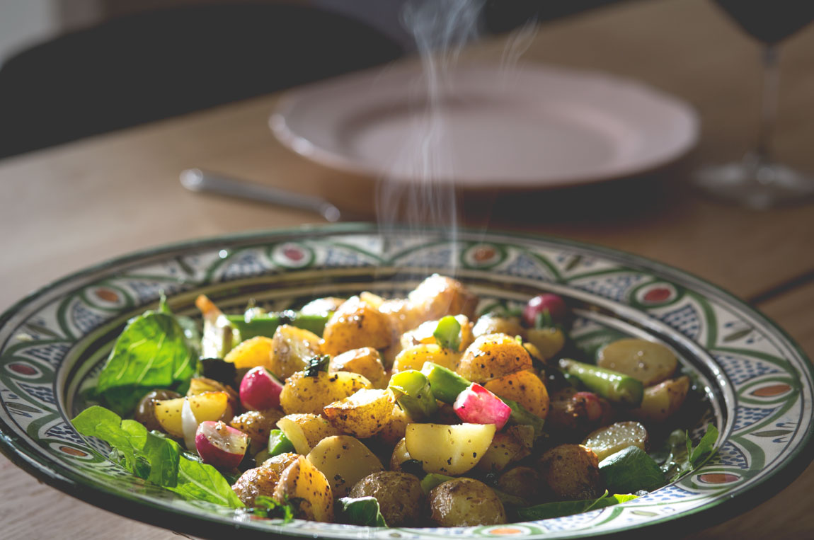 sparris-färskpotatis-sallad