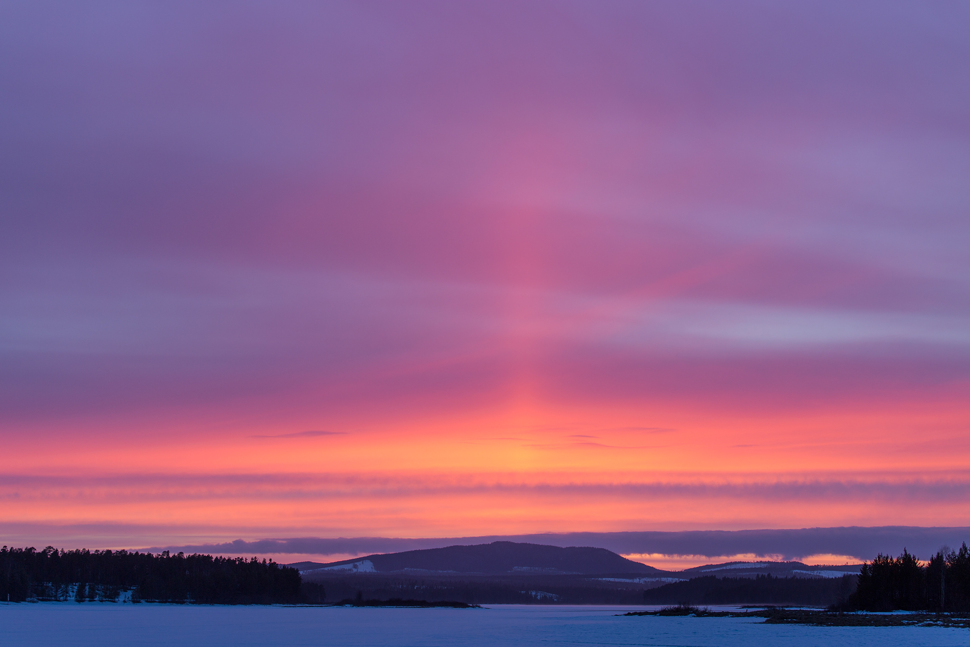 sunset Nordomsjön