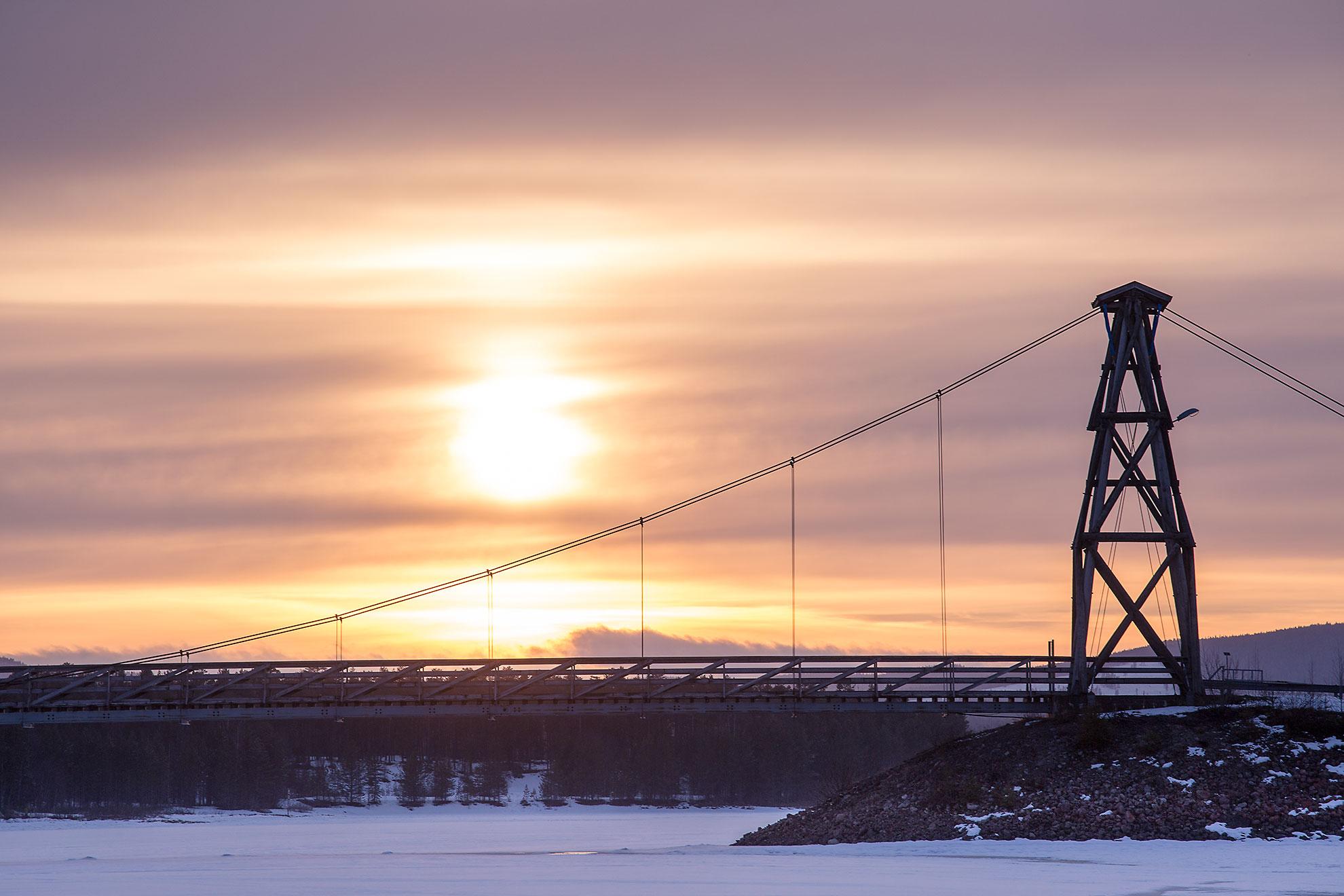 Solnedgång i Nordomsjön