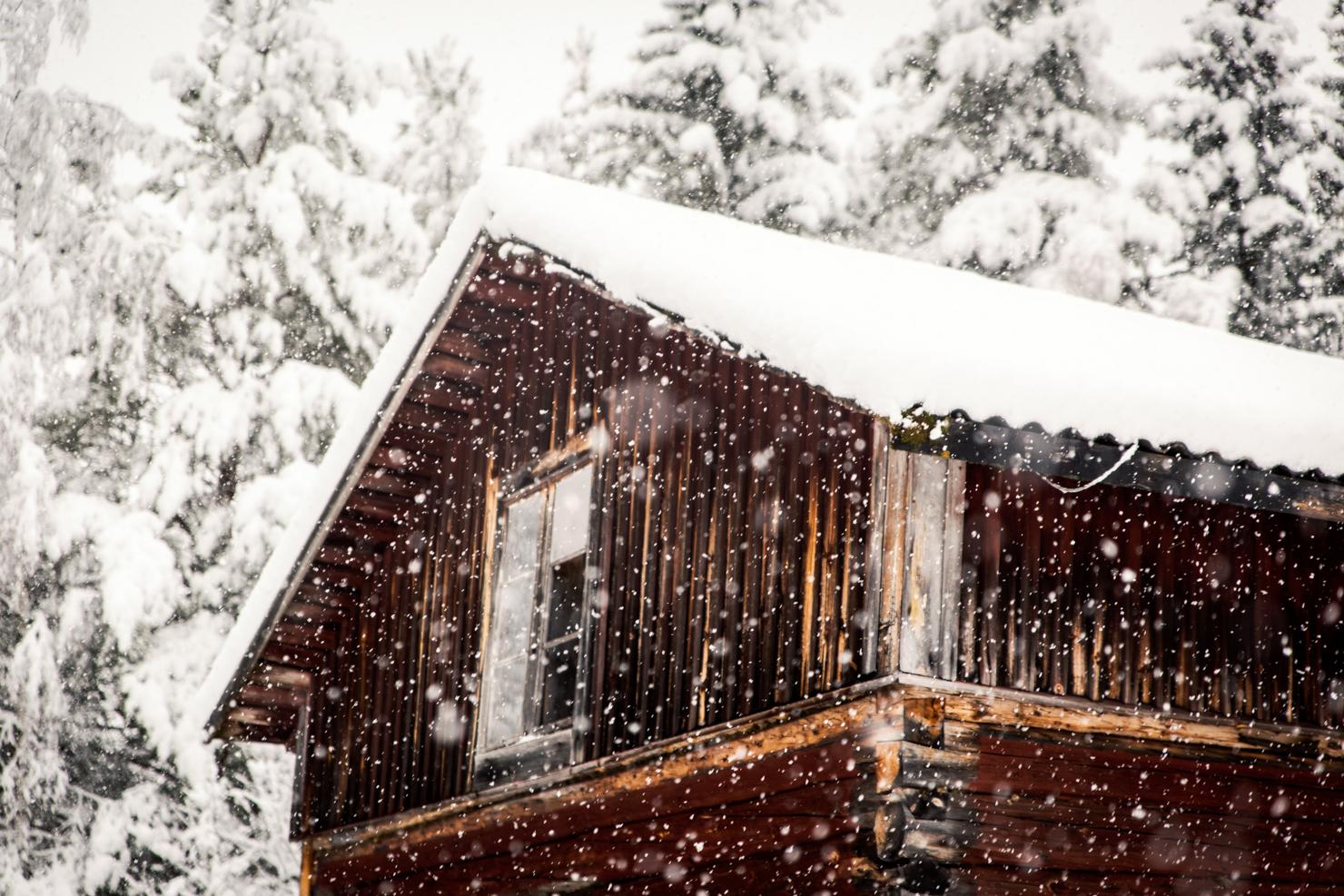 första snön i Särna