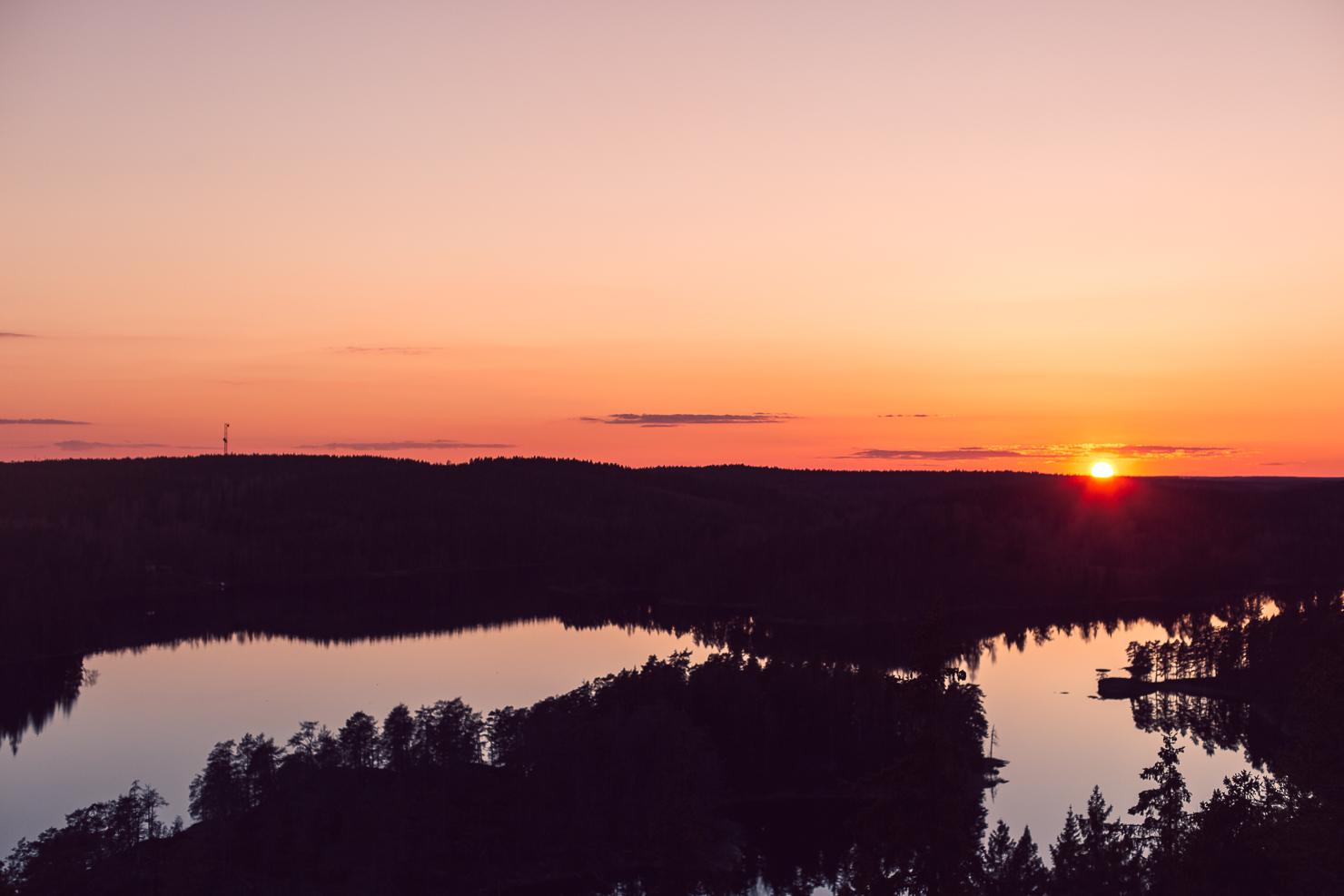 Valborgsmässoafton vid Ågelsjön