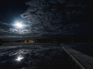 Fullmåne över Särnsjön