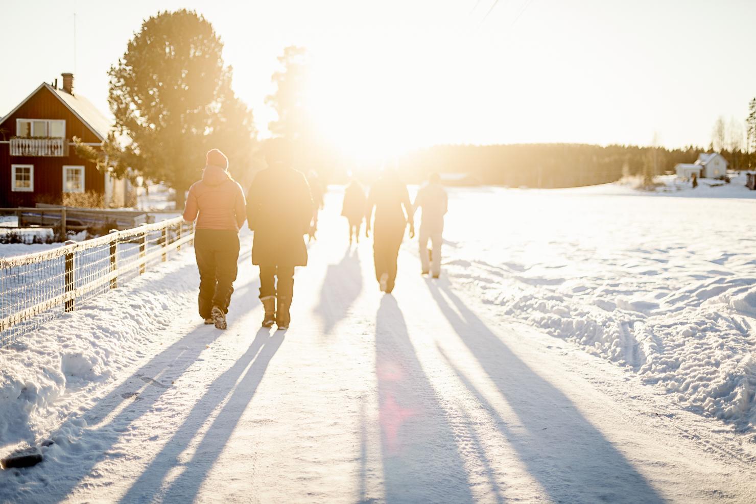 Firar vintersolstånd med internetkompisar