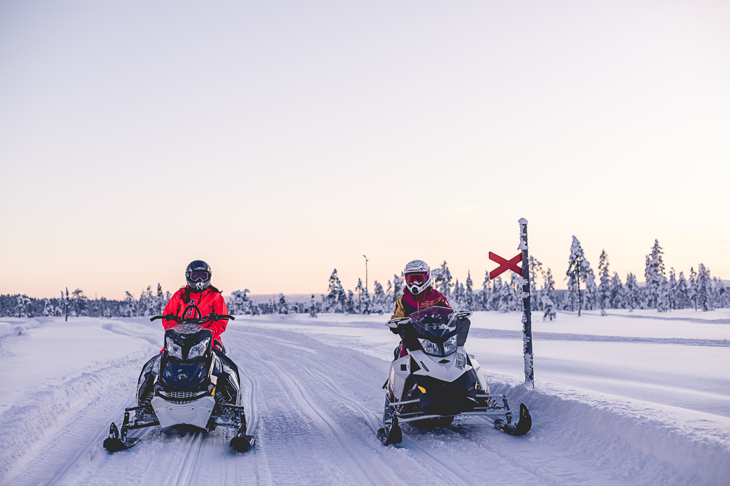 A day on the snowmobiles