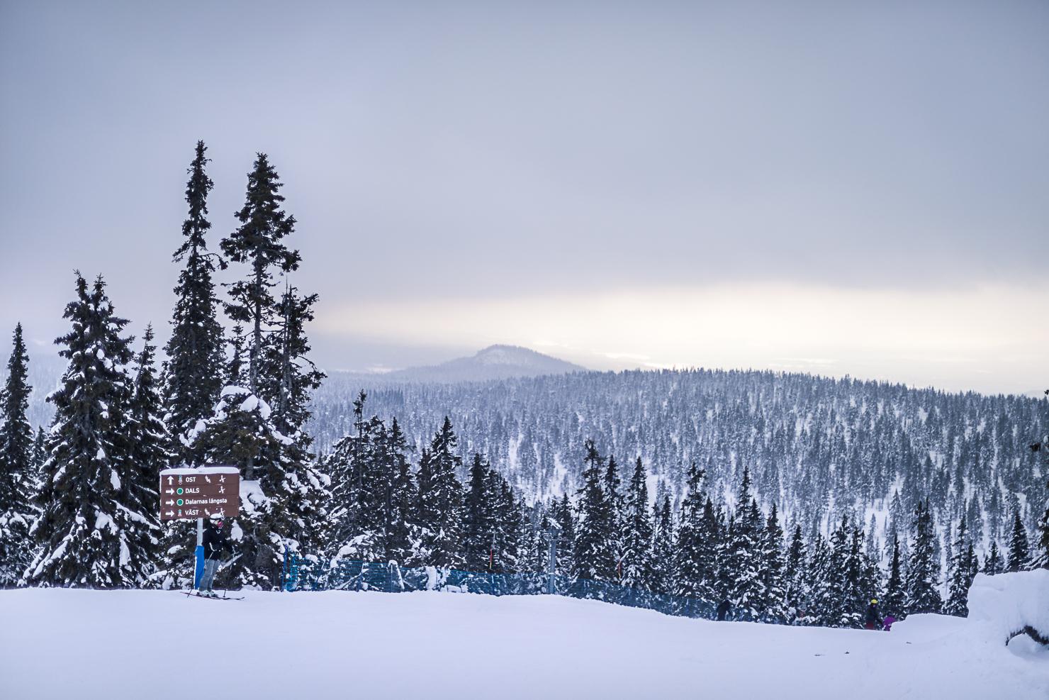 Vacker utsikt från Idre Fjäll