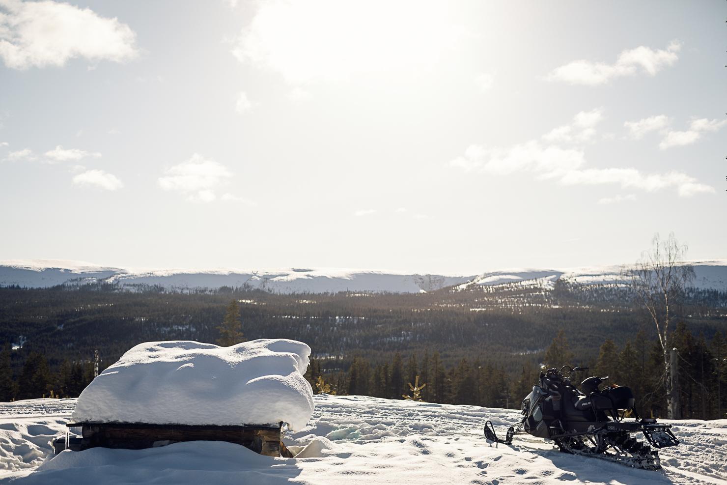Rastplats med utsikt mot Fulufjället, Mörkretleden