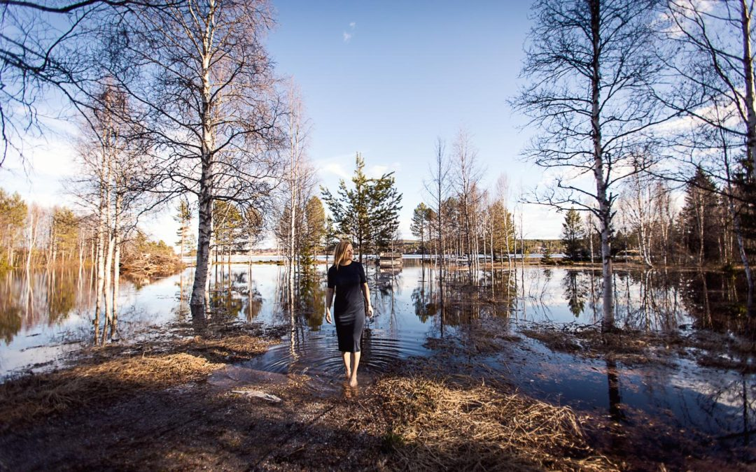 Vårflod i Särna – utökad sjöutsikt