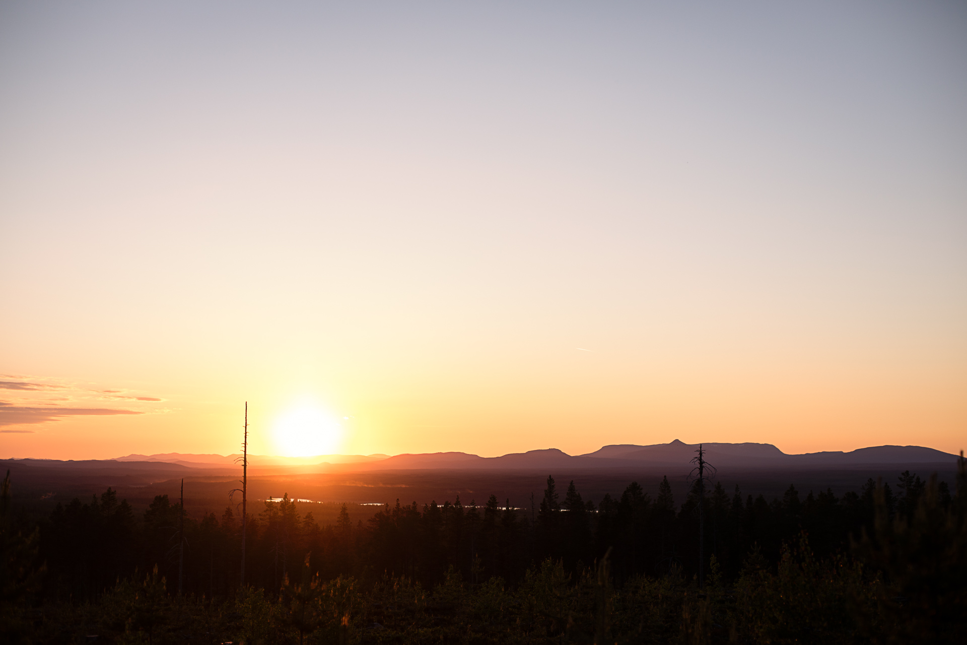 Solnedgång i maj på Mickeltemplet