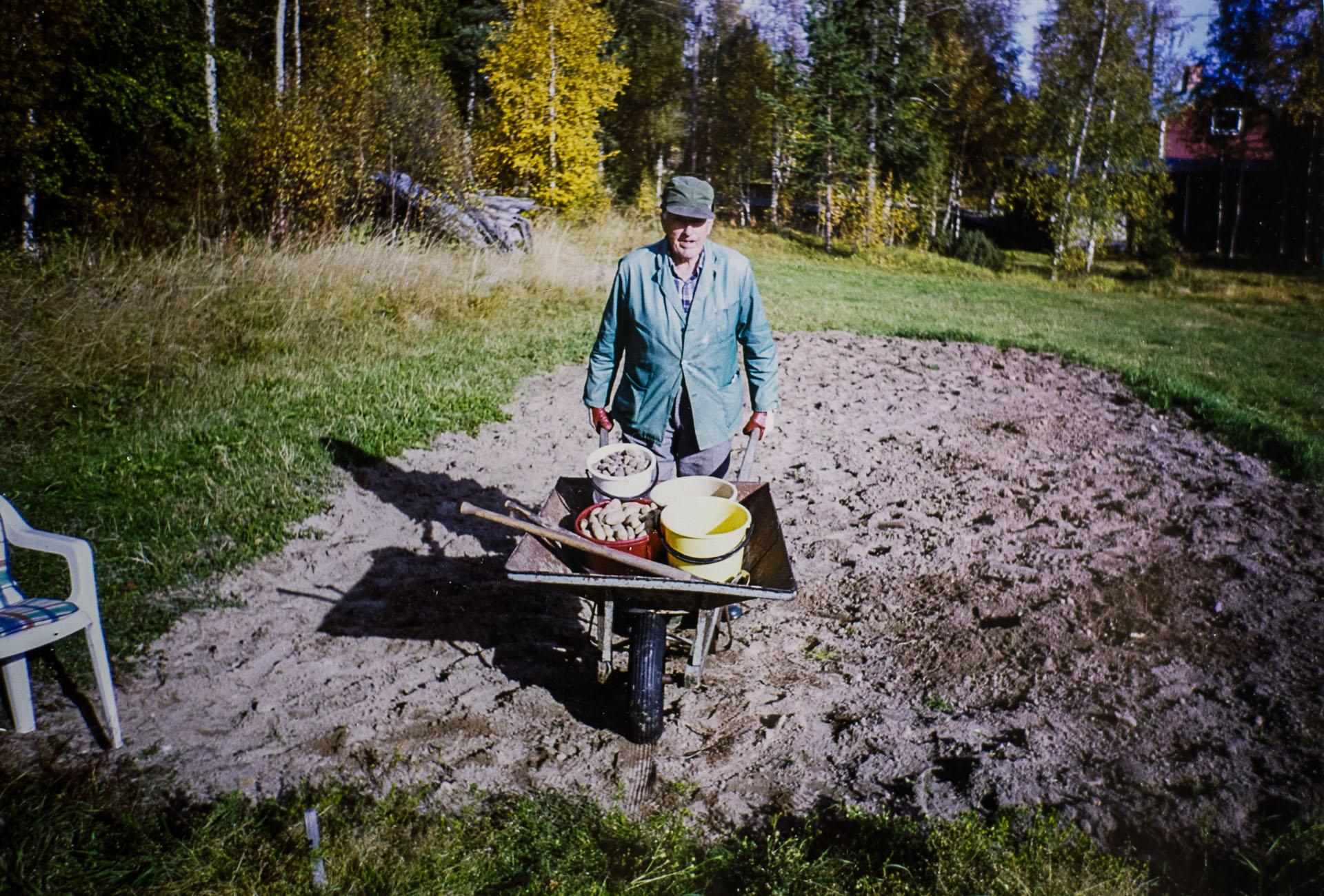 Farfar på potatisåkern