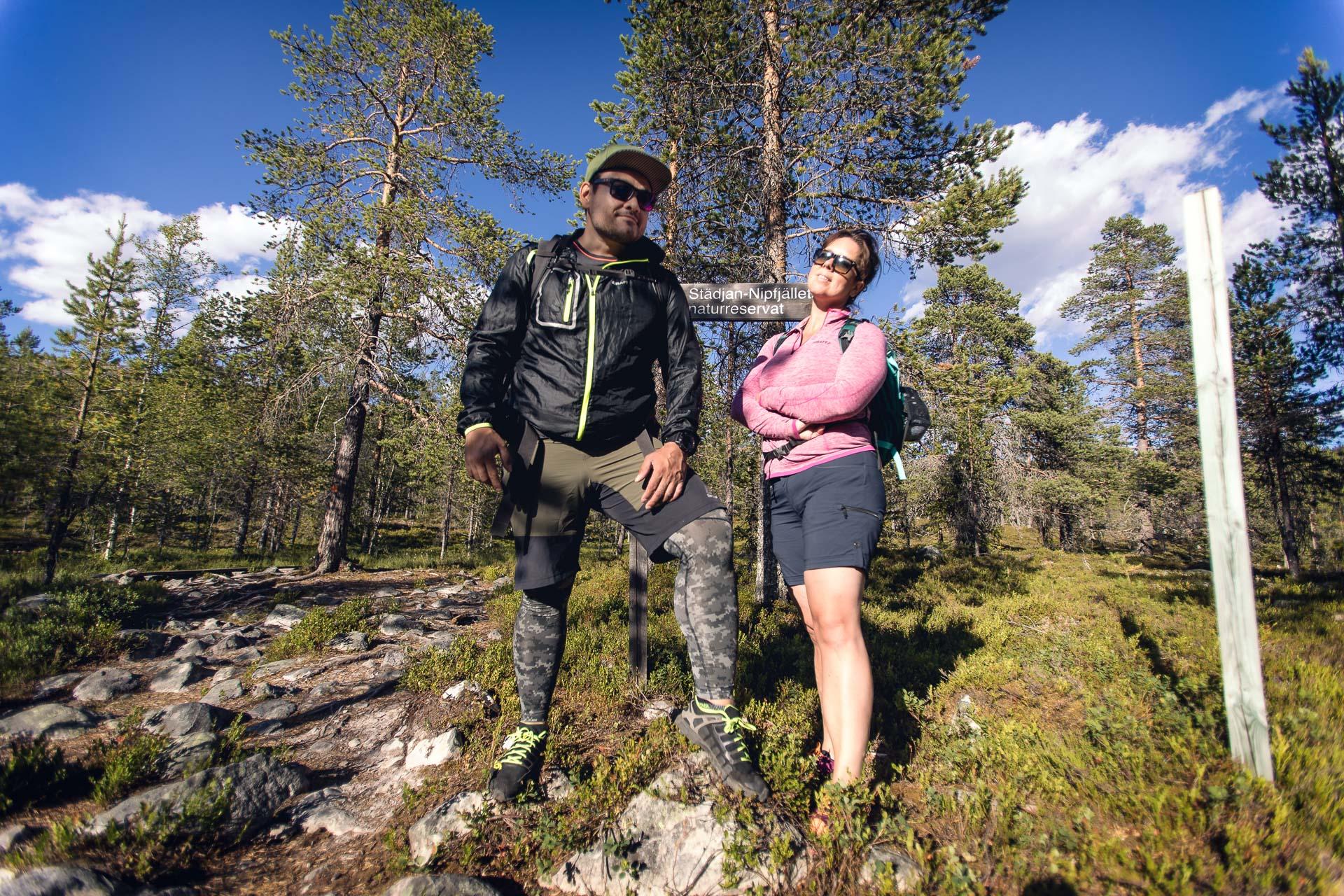 Sara och Danny på väg upp på Städjan
