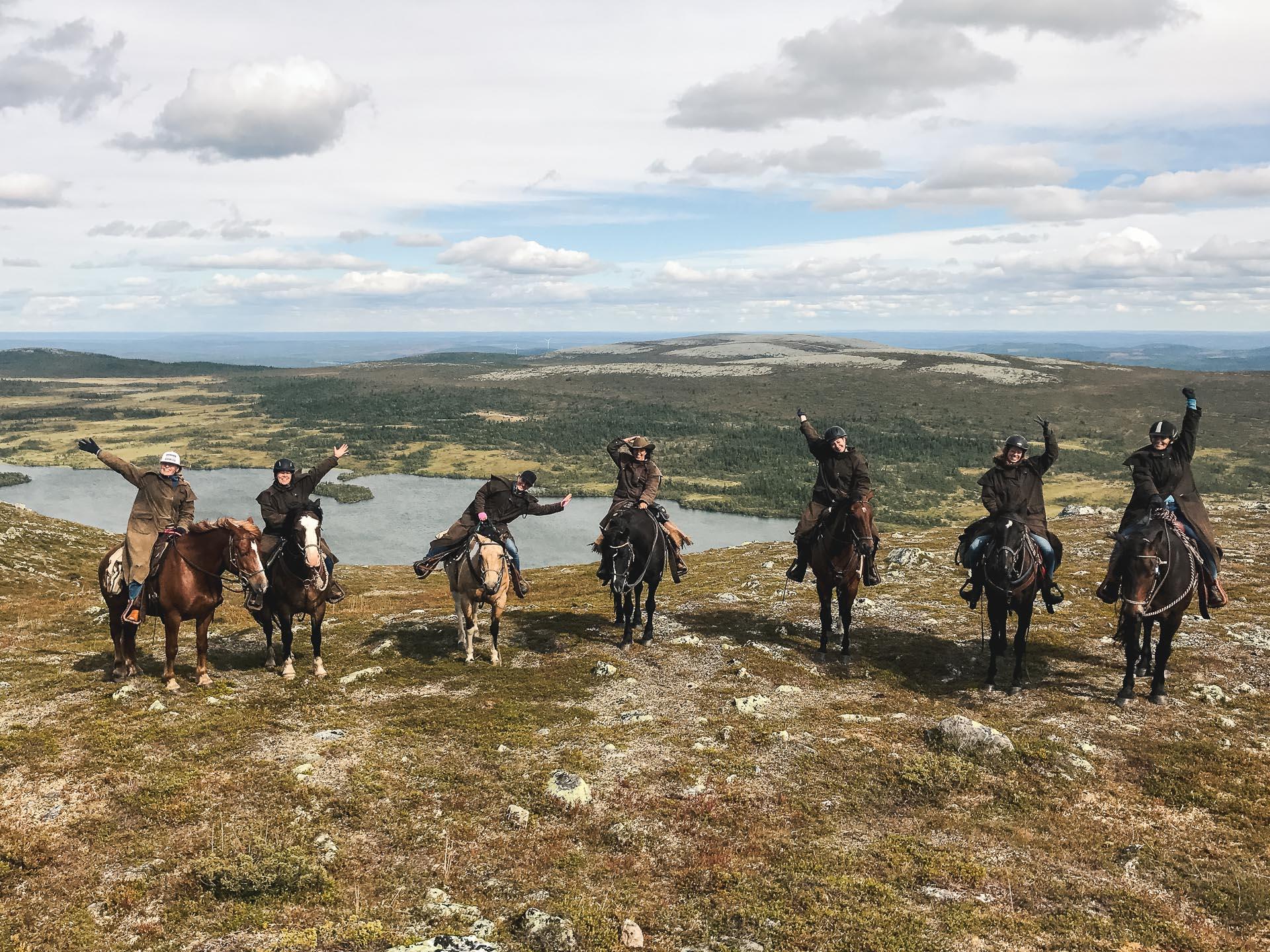Topptur till häst på Trumvallen