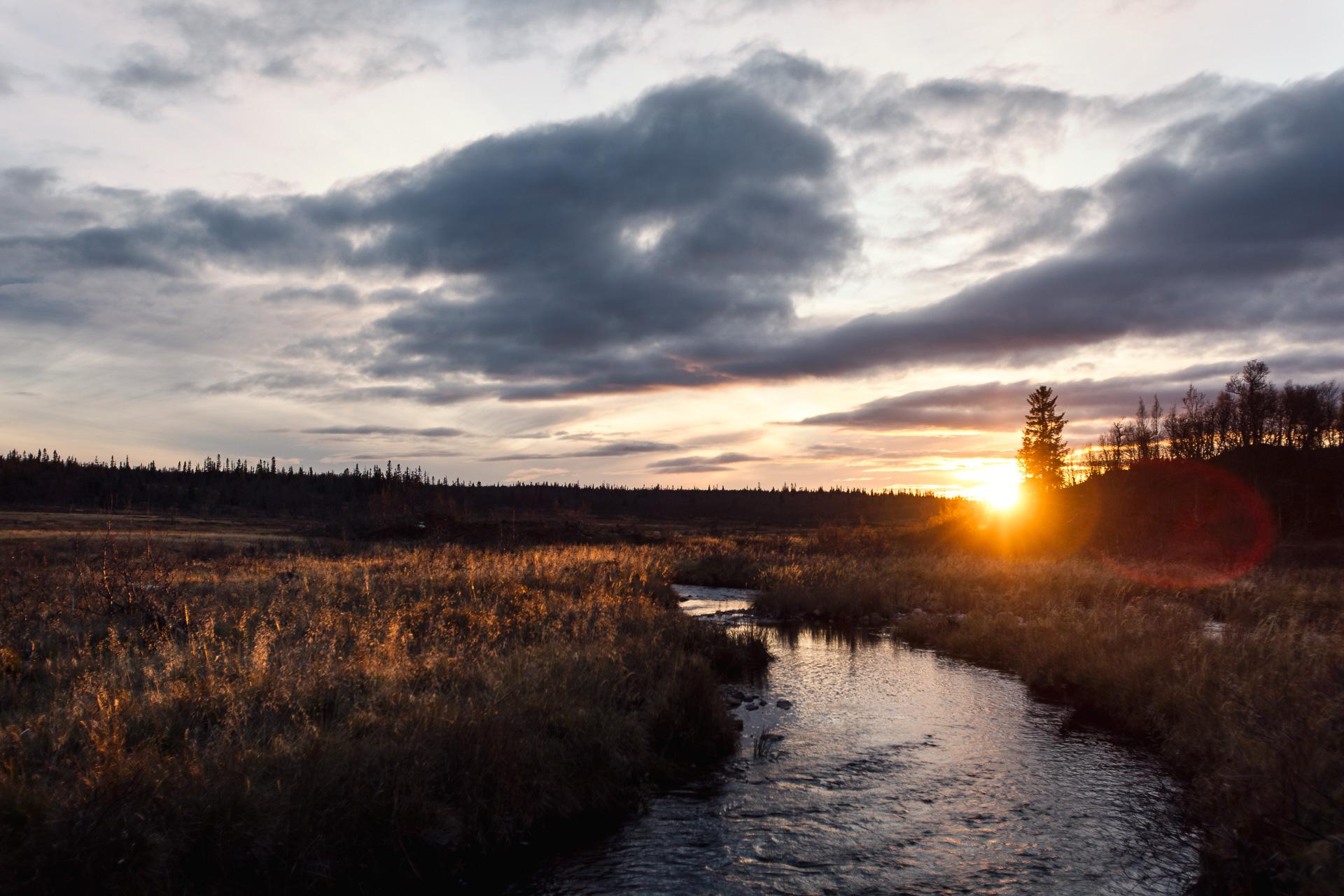 solnedgång på Fulufjället