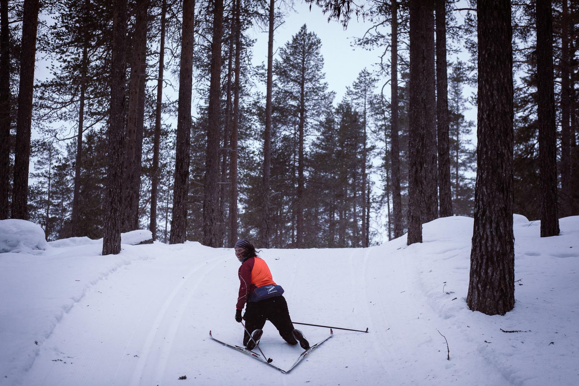 Åka längdskidor i Fjätervålen