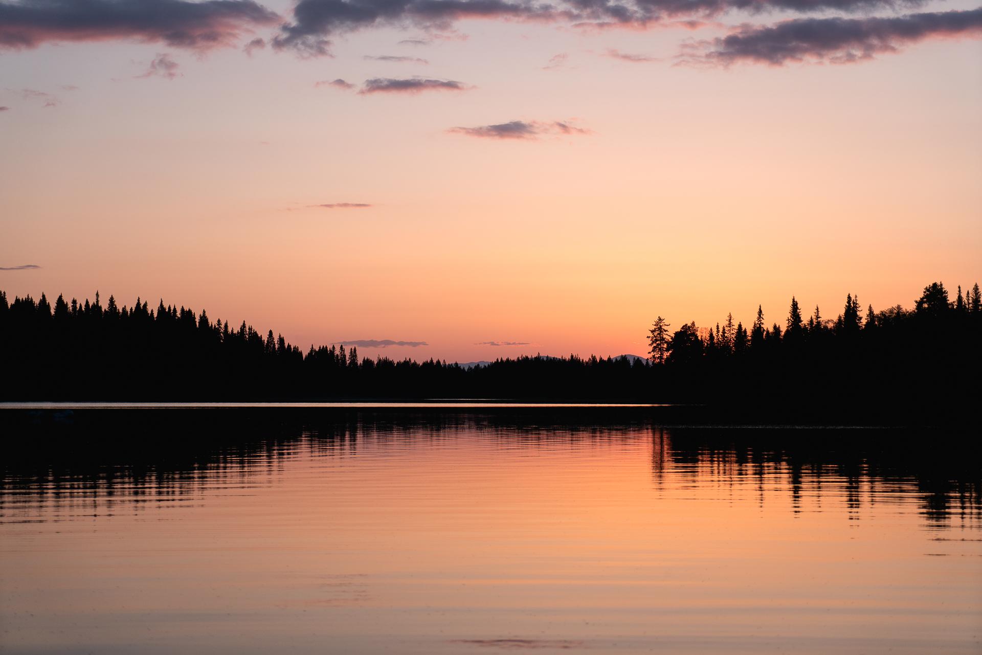 Solnedgång Huskucabin
