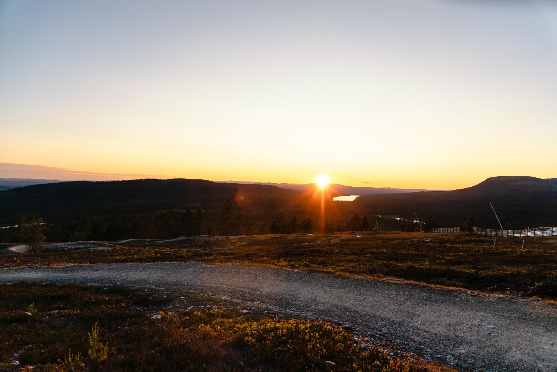 Mountainbike-cykling på Idre Fjäll
